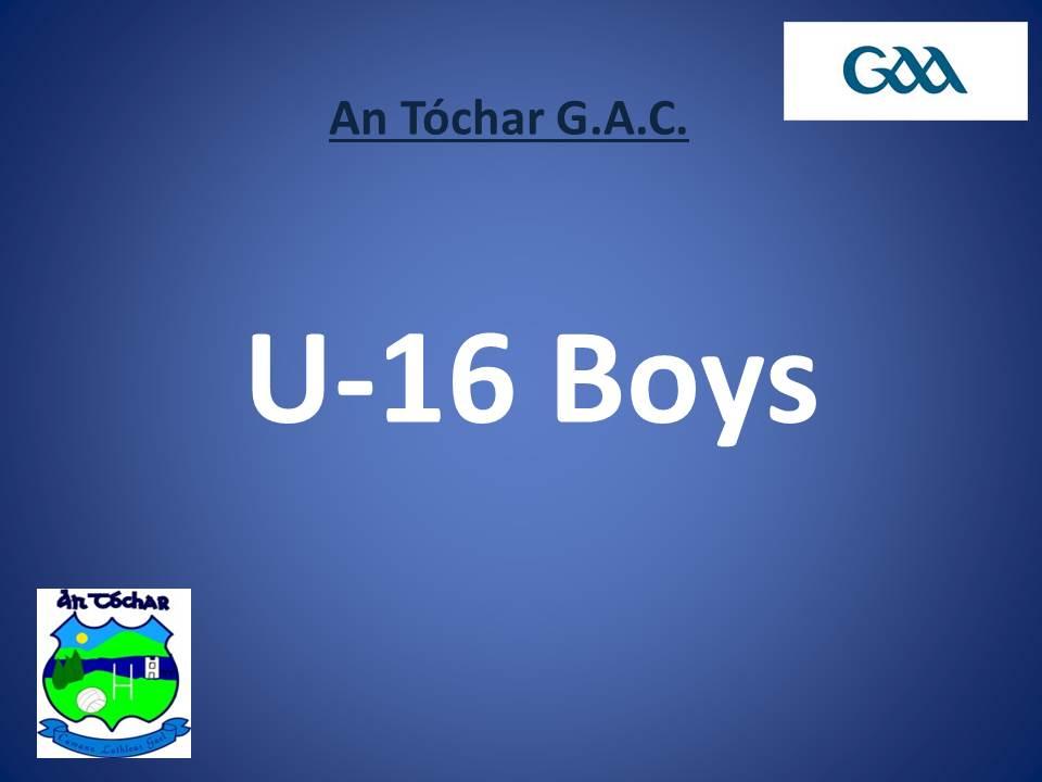 U 16 Boys